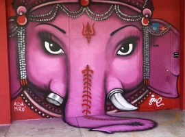 """Ganesh, the renoval of obstacles"". South Miami K8 Center, Miami FL. 2018."
